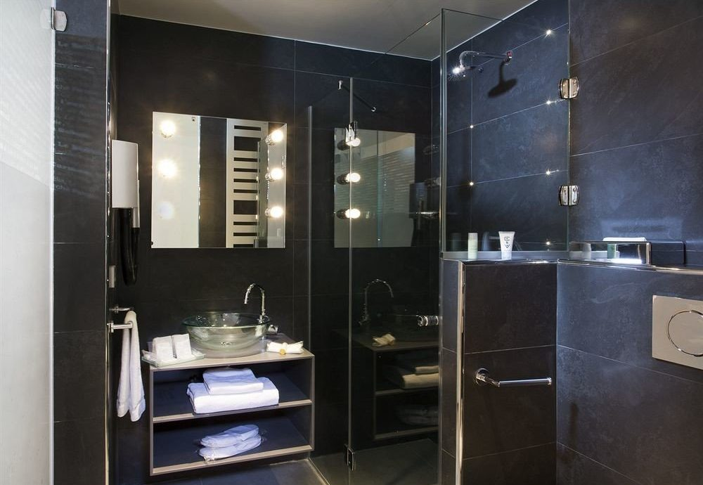 bathroom cabinetry home plumbing fixture toilet stall Modern tiled