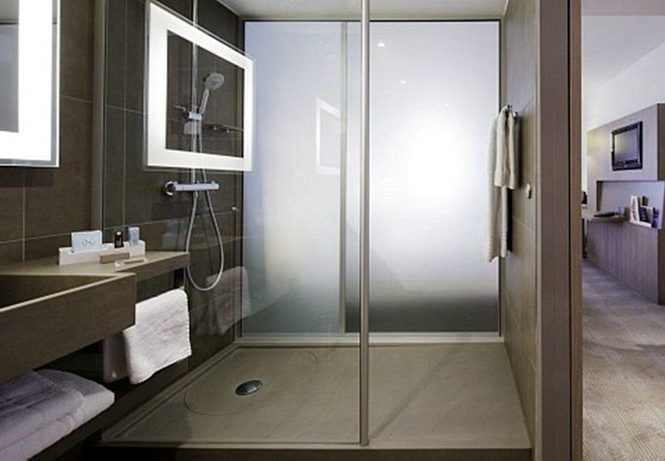 bathroom property sink plumbing fixture home shower Modern