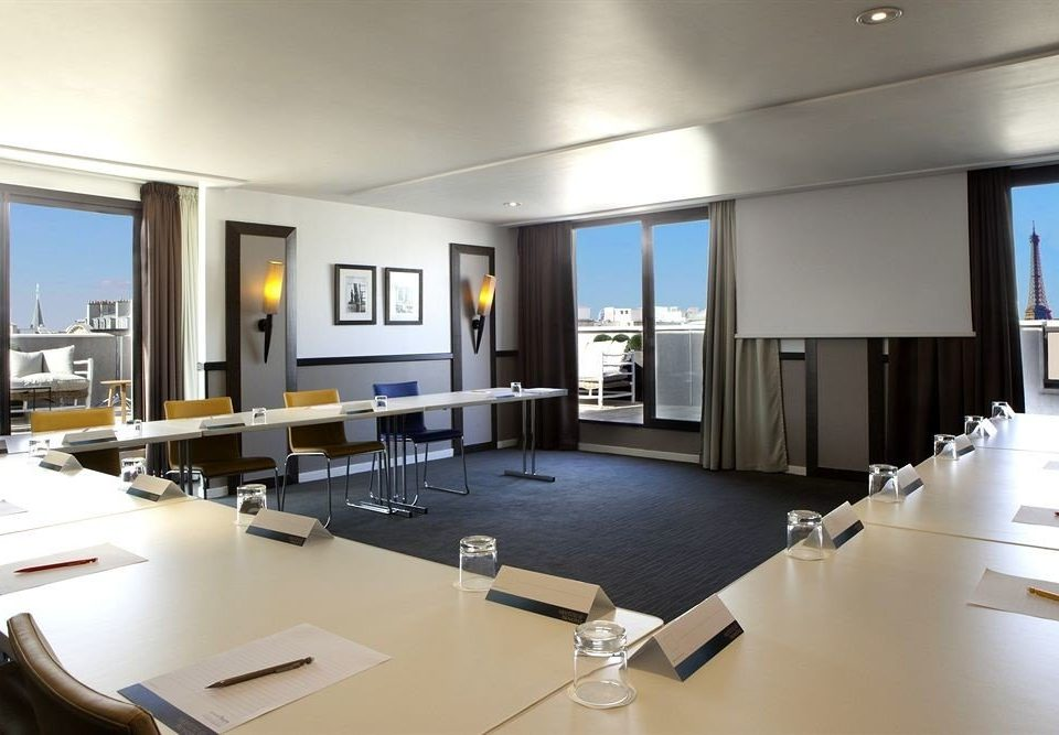 property condominium office conference hall living room headquarters Modern conference room