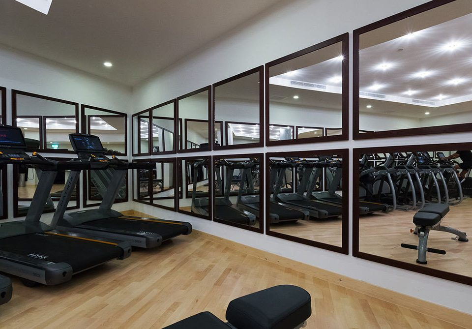 structure property sport venue condominium gym living room office Modern