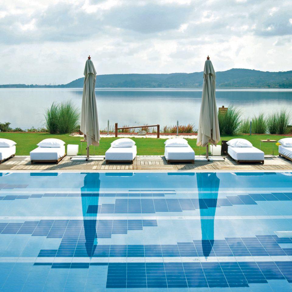 Modern Pool Resort Waterfront sky water leisure swimming pool marina swimming day