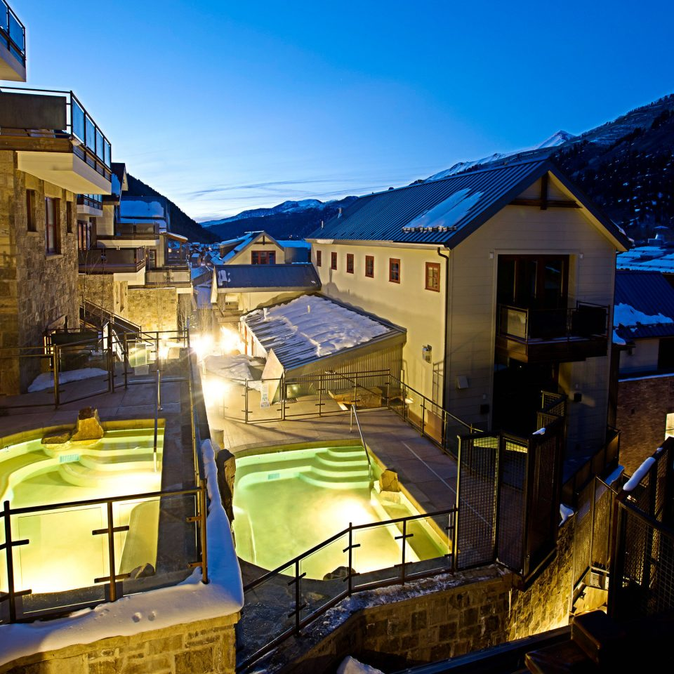 Modern Resort Scenic views building sky night house Town evening home
