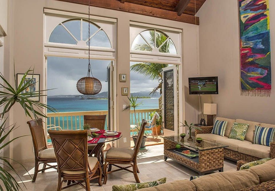 Modern Resort Scenic views Tropical Waterfront property living room home cottage Villa condominium farmhouse porch mansion