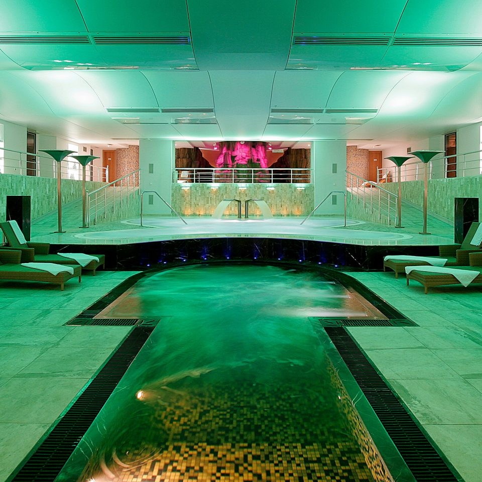 Modern Resort Spa Waterfront Wellness leisure swimming pool billiard room recreation room green games
