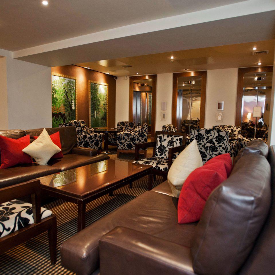 sofa property living room Suite home Resort restaurant Modern leather