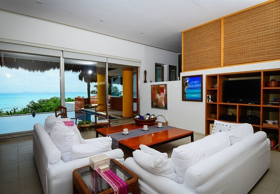 Modern Scenic views Tropical Waterfront property condominium living room house home Villa Suite cottage