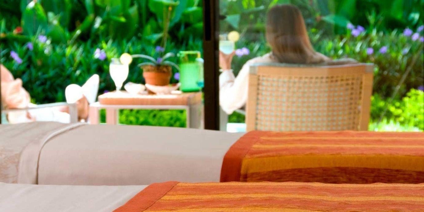Modern Spa Wellness bed sheet orange