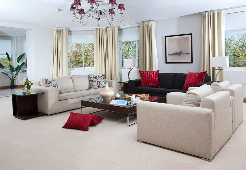 sofa living room property white flat red home Suite nice condominium couch Modern arranged