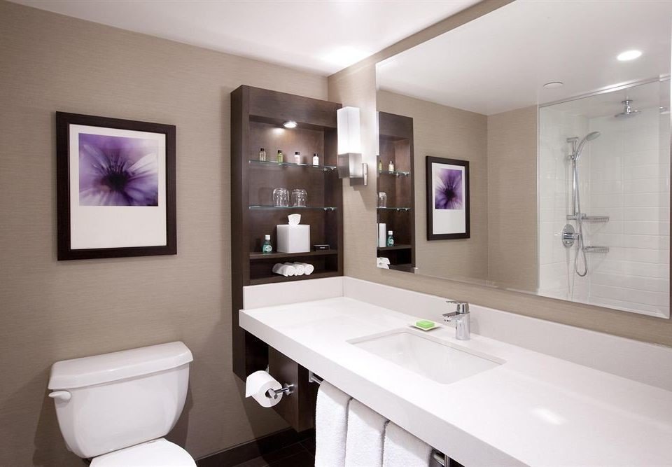 bathroom mirror toilet property sink home condominium Suite clean Modern