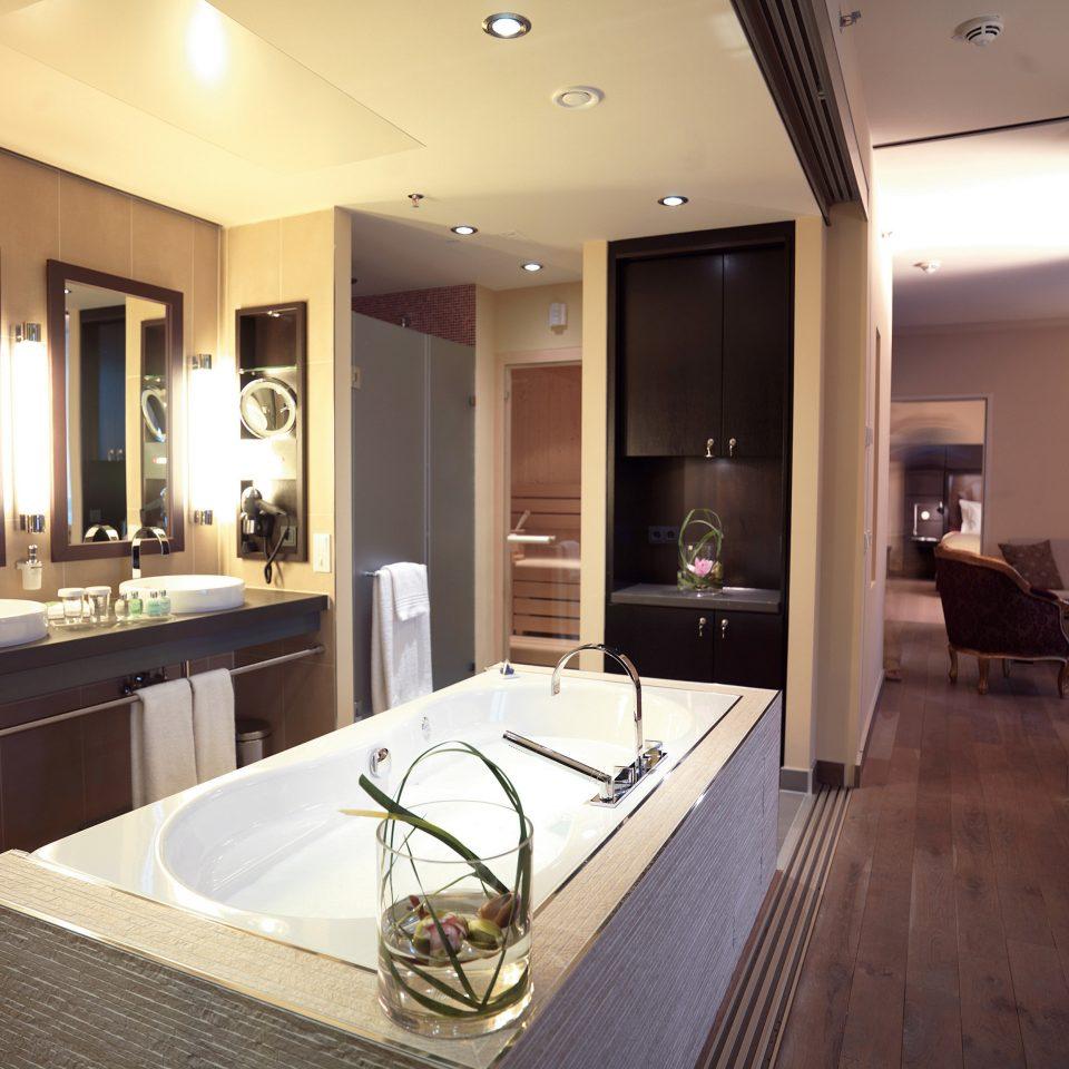 bathroom property Suite home condominium sink living room mansion Modern tan