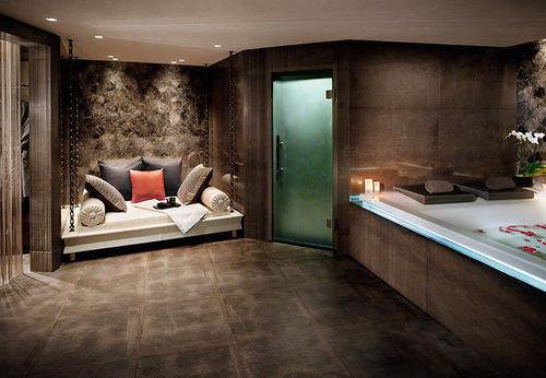property building living room home flooring Suite mansion Modern stone