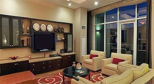 living room property condominium home Suite leather Modern flat