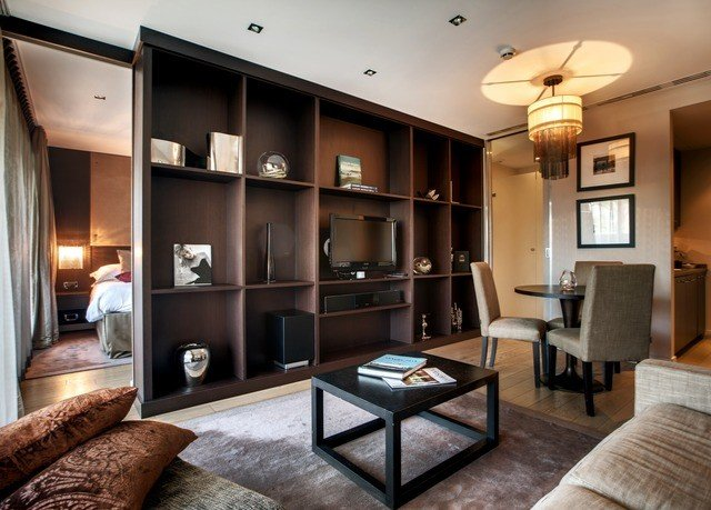 living room property condominium home Suite Modern flat leather