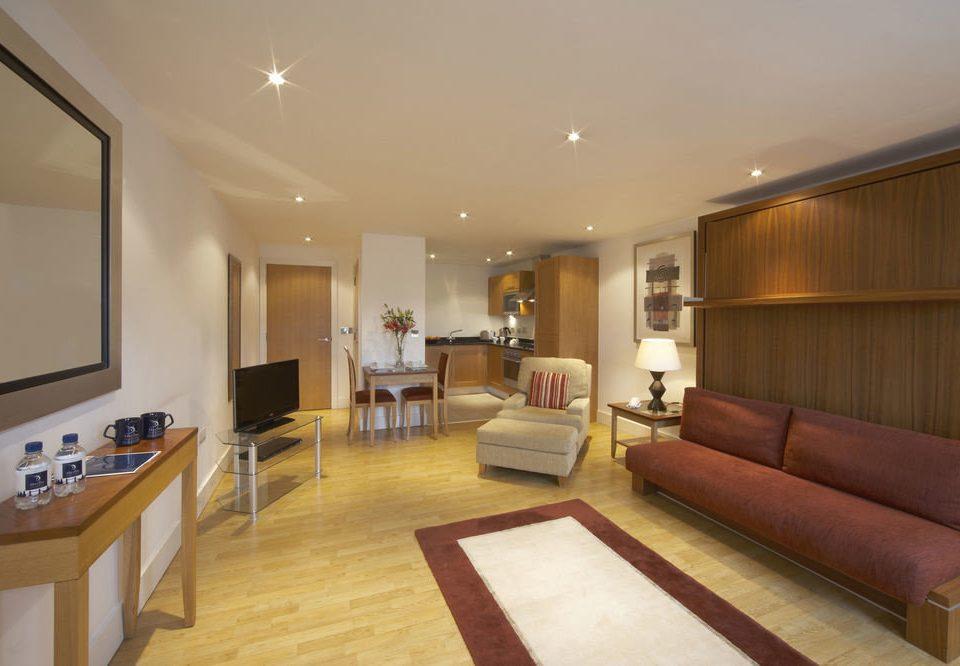 property living room Suite hardwood condominium home Modern flat