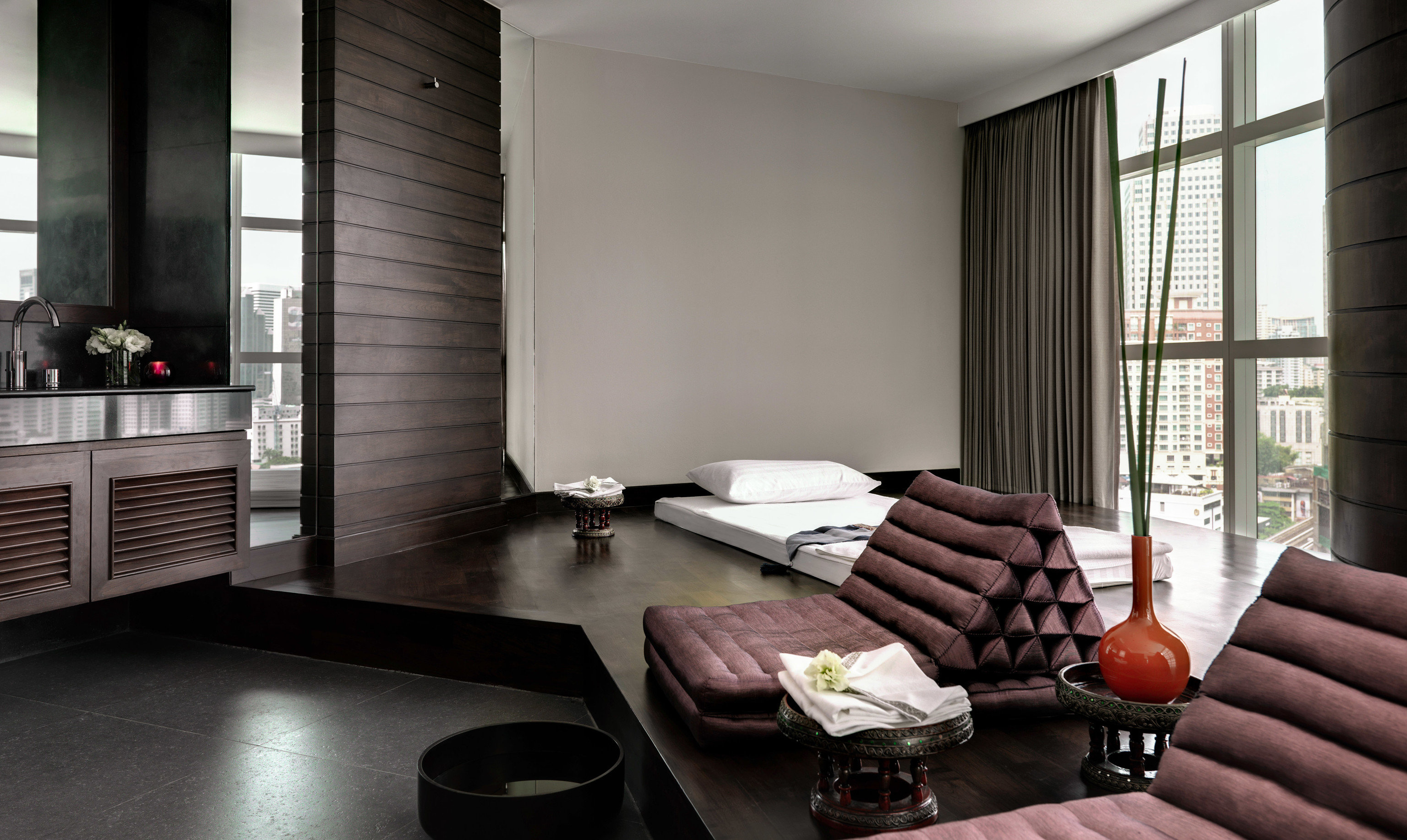 property living room home condominium Suite loft Modern leather