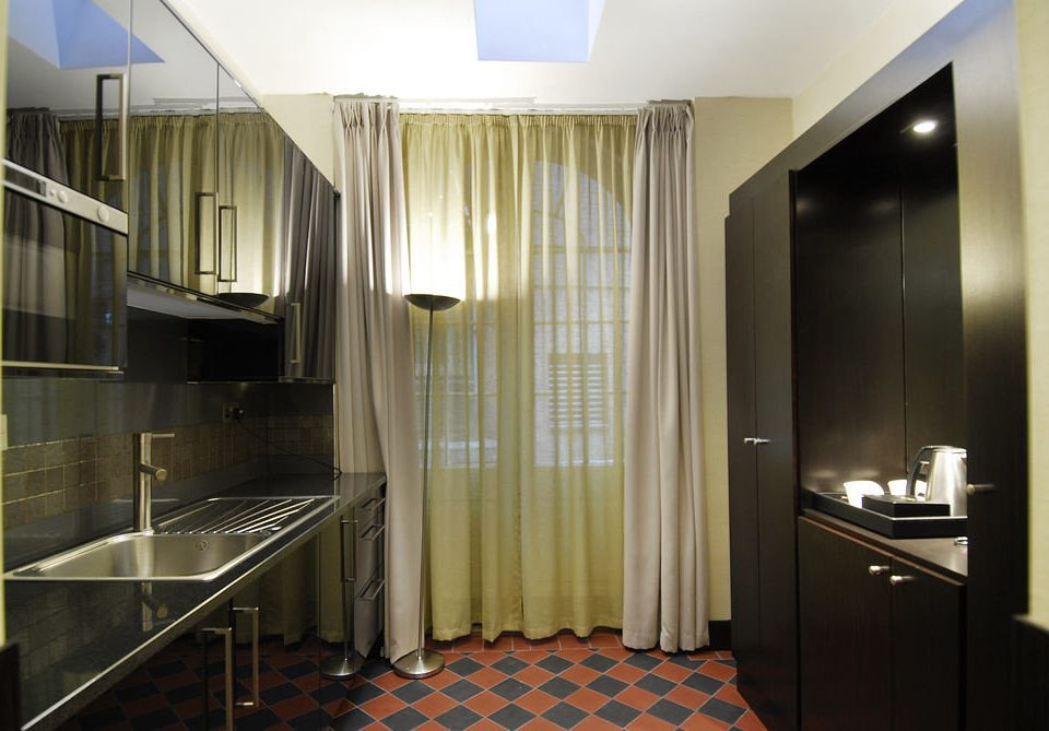 property condominium Suite sink home stainless Modern steel tiled