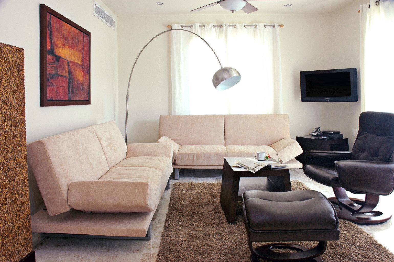 Modern Suite property living room home cottage