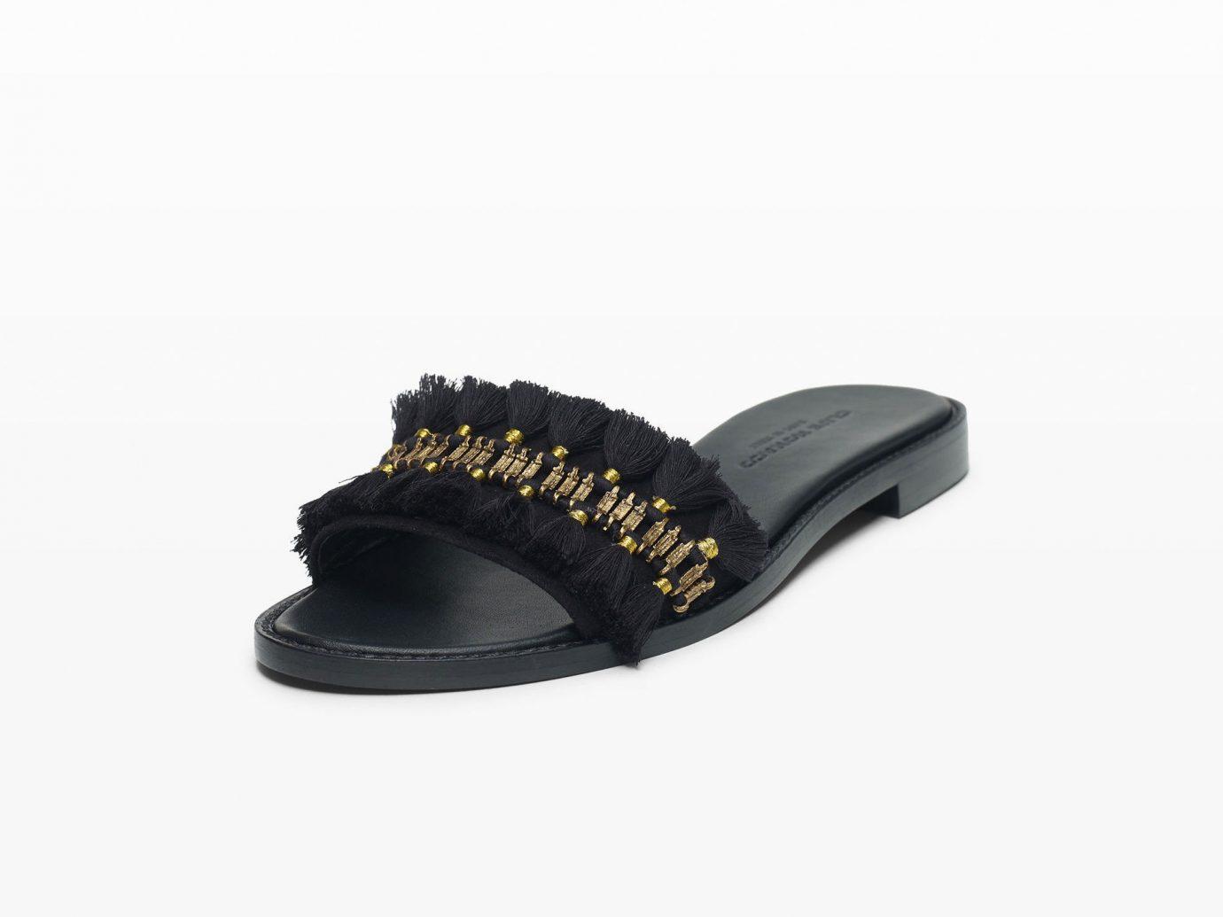 Style + Design footwear black shoe flip flops product leather sandal outdoor shoe slipper