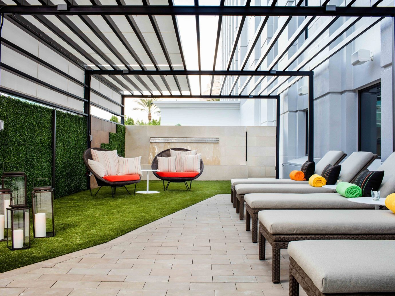 roof interior design real estate outdoor structure backyard house Patio pergola estate Courtyard daylighting