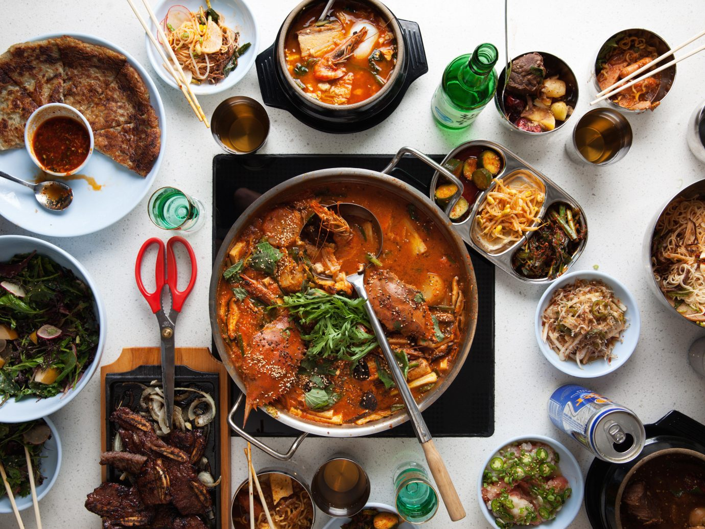 Bar Dining Drink Eat Luxury Modern food plate dish meal different cuisine asian food supper chinese food bunch lunch various several meat arranged variety