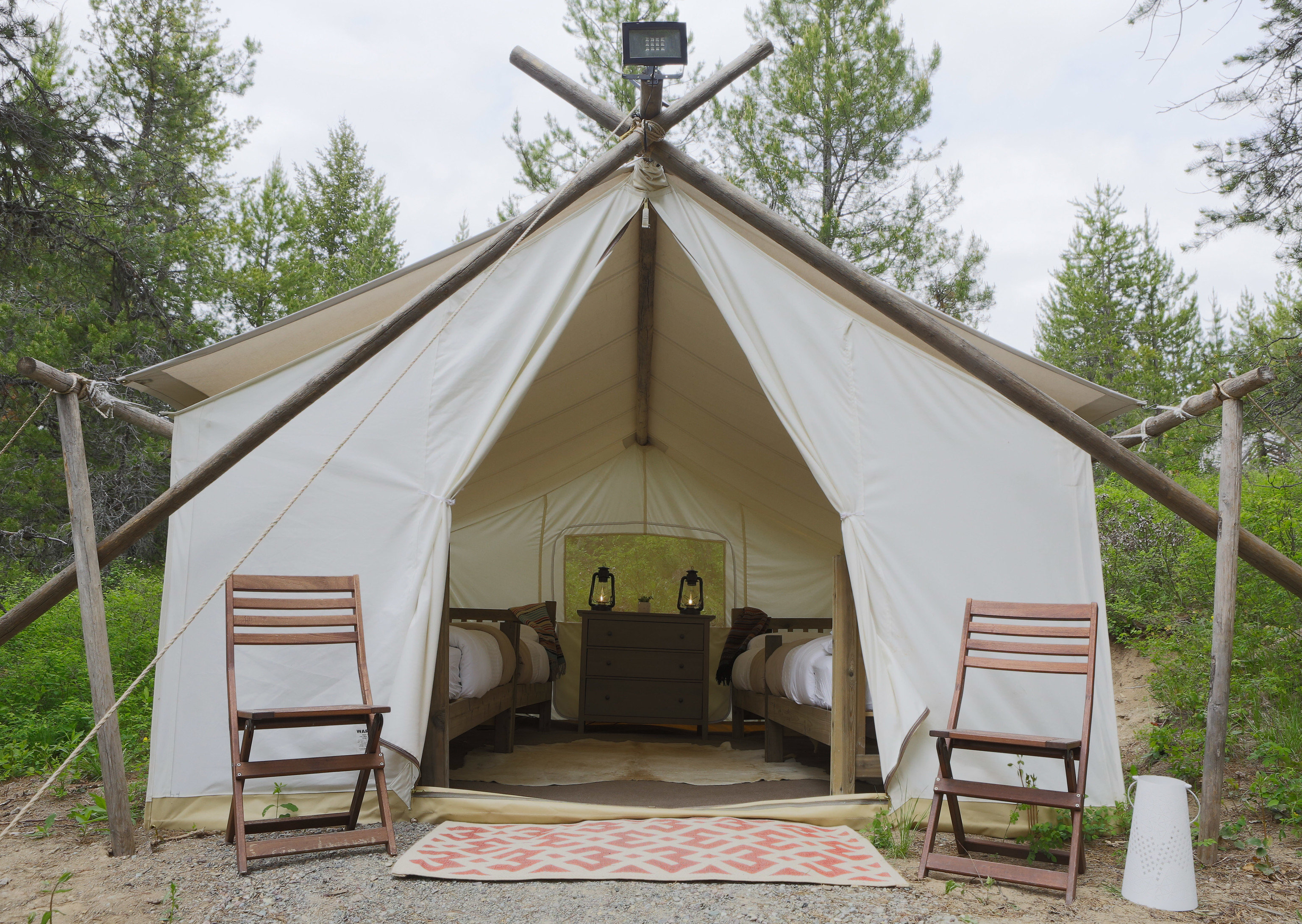 Glamping Outdoors + Adventure Weekend Getaways tree sky outdoor tent outdoor object camp