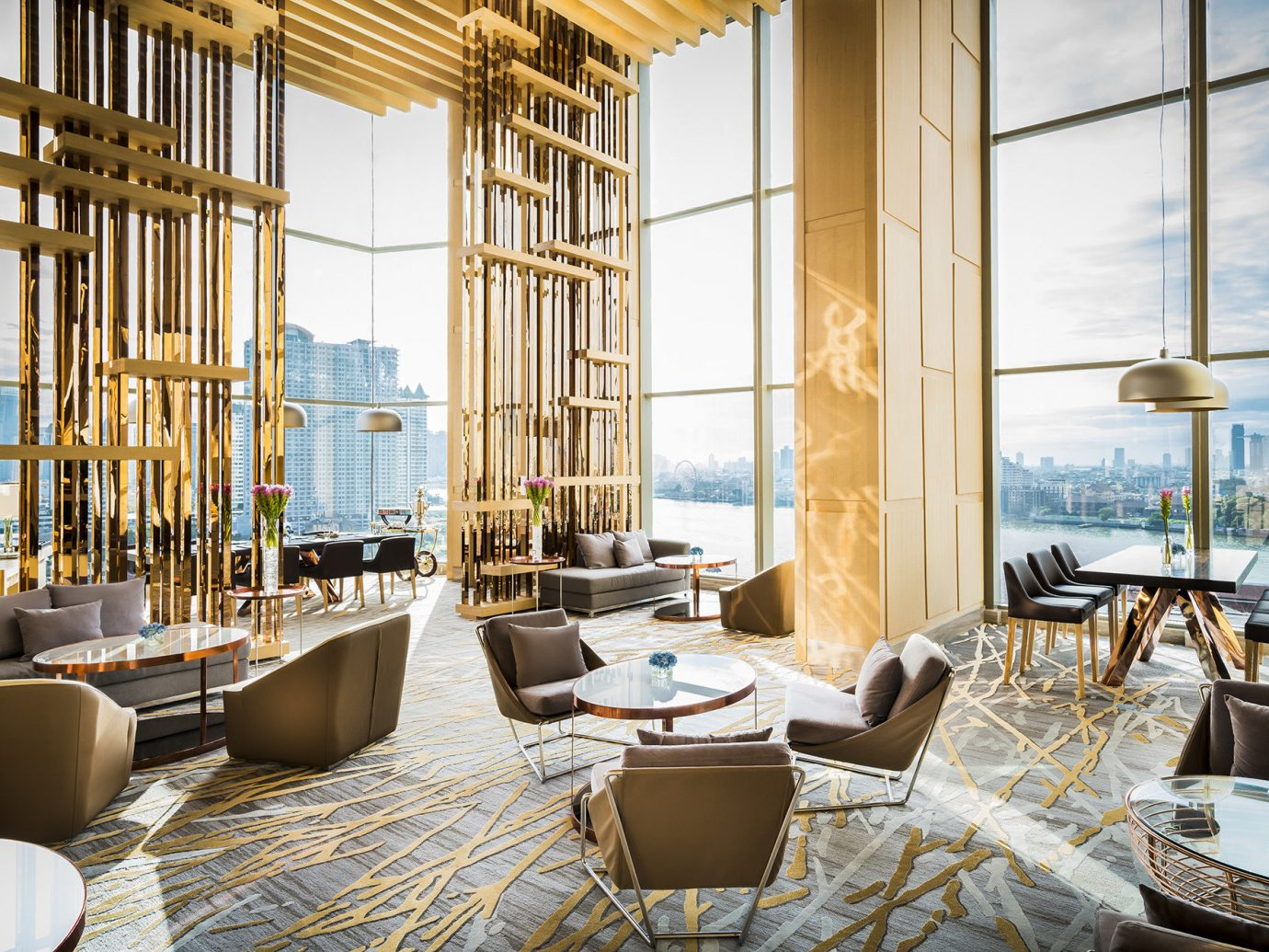 Hotels indoor window room property estate living room home interior design condominium restaurant real estate Resort Design window covering Lobby Suite apartment furniture