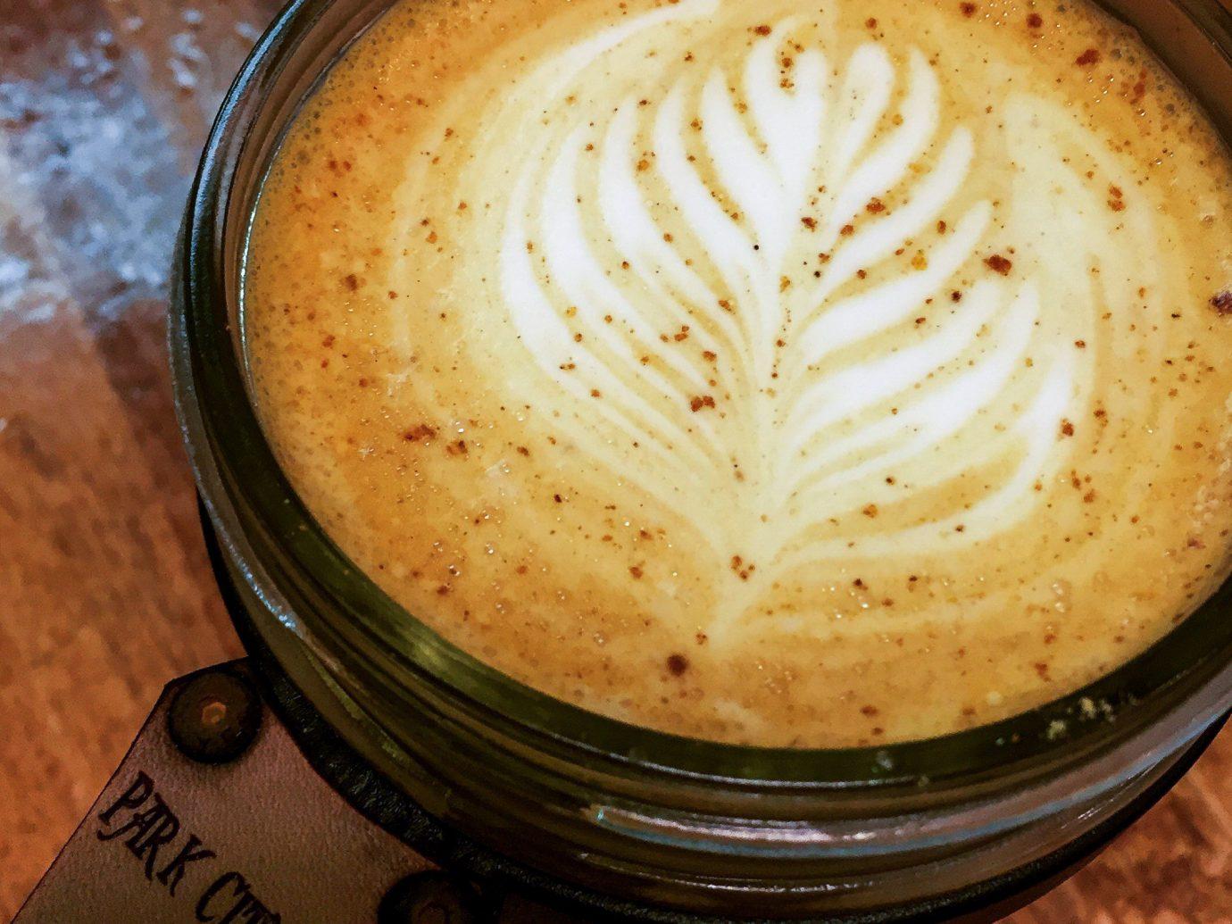 Trip Ideas cup indoor coffee latte beverage flat white food cappuccino café au lait Drink mocaccino cuban espresso coffee cup flavor coffee milk cortado caffeine caffè macchiato