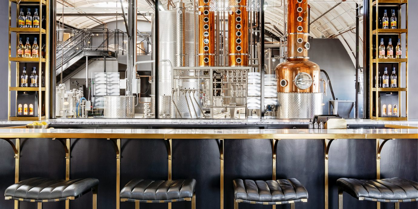 Food + Drink building Architecture interior design shelf Bar facade restaurant several