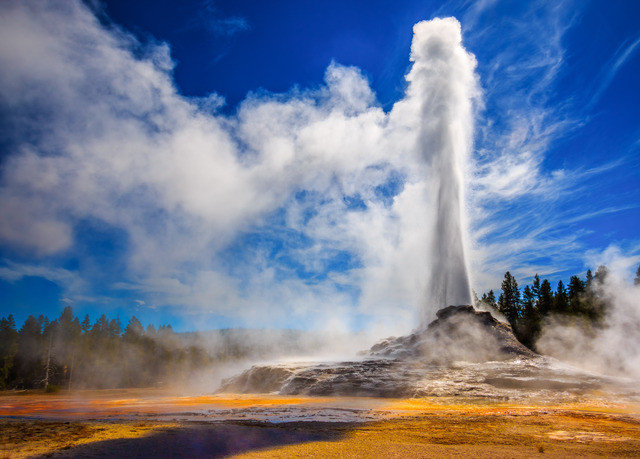 sky spring geyser Nature smoke cloud fire landscape wind wave wave air clouds