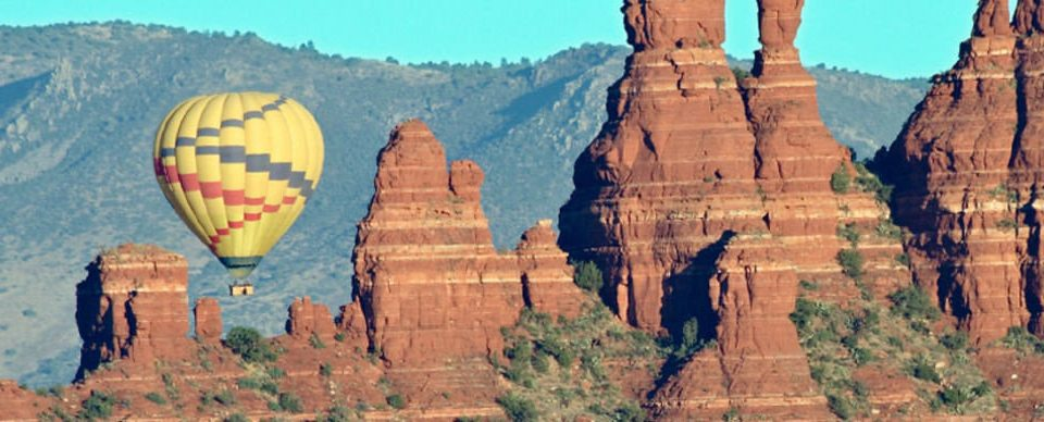 mountain valley balloon canyon aircraft Nature transport formation geology painting