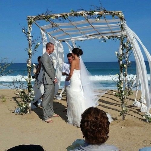 sky man ceremony wedding bride groom Nature shore