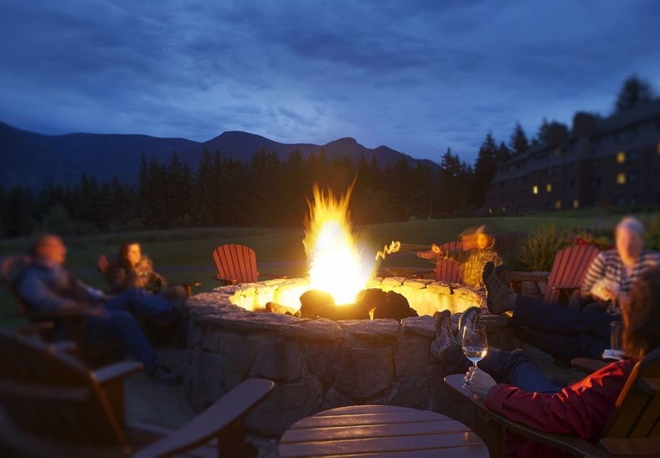 sky Nature campfire night evening fire