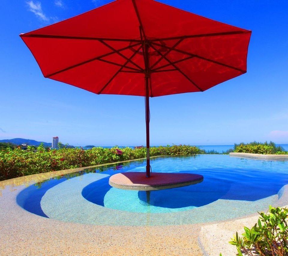 accessory sky umbrella grass Nature blue Pool wind shore clear shade swimming