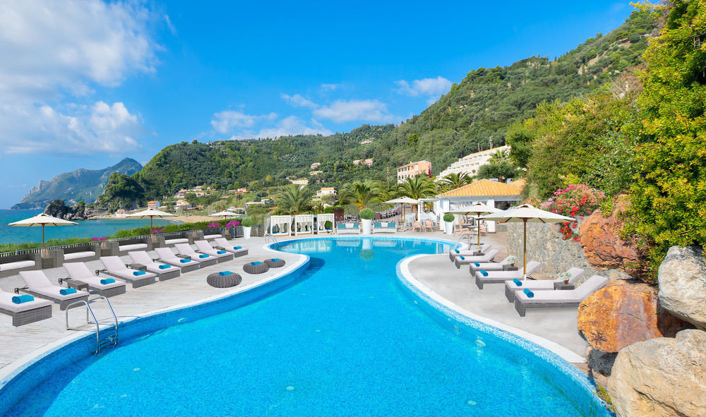 sky water mountain swimming pool property Pool Resort leisure Nature blue resort town caribbean Sea Villa swimming lined day