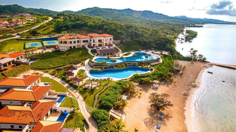 mountain Resort Town Nature Village Water park aerial photography amusement park park surrounded shore