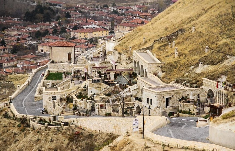 mountain Town aerial photography landmark valley Nature canyon ancient history monastery Ruins Village