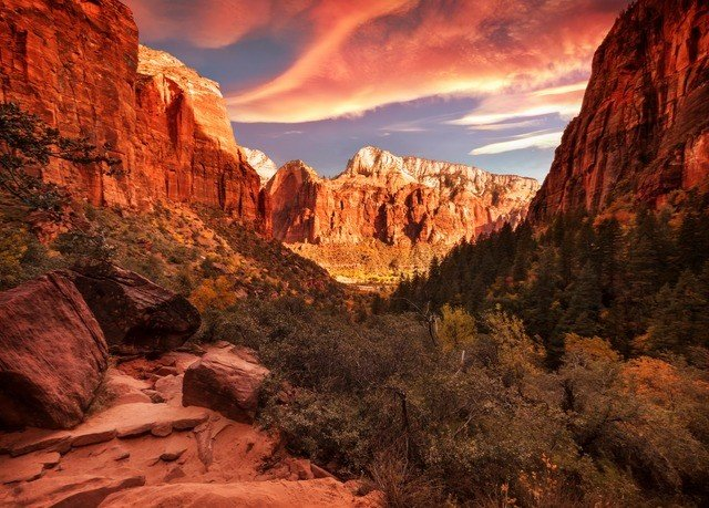 valley mountain canyon Nature wilderness rock wadi landscape badlands cliff Sunset terrain arch plateau sunrise geology formation national park autumn painting
