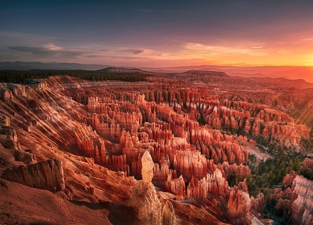 valley Nature canyon sky mountain sunrise badlands Sunset formation plateau overlooking