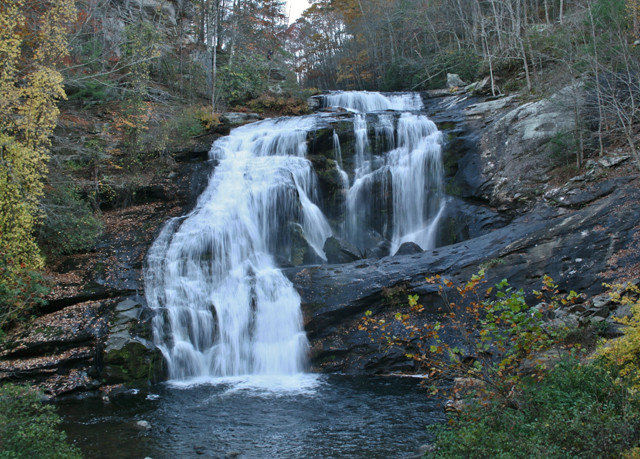 Nature Waterfall water tree watercourse water feature stream wasserfall state park surrounded