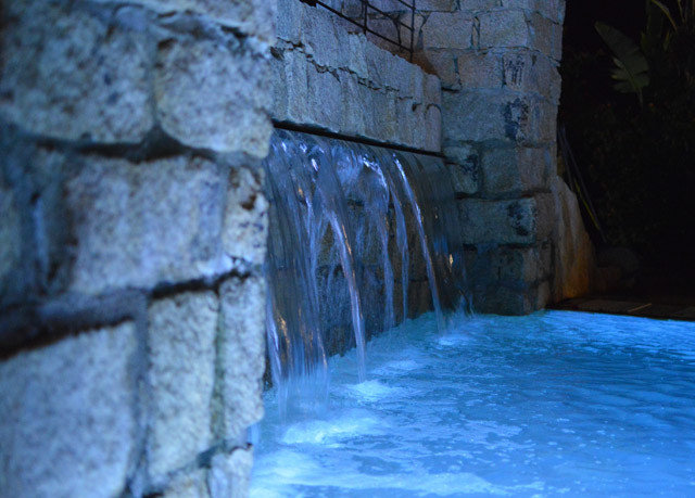 Nature blue water Winter cave Waterfall ice formation terrain stone