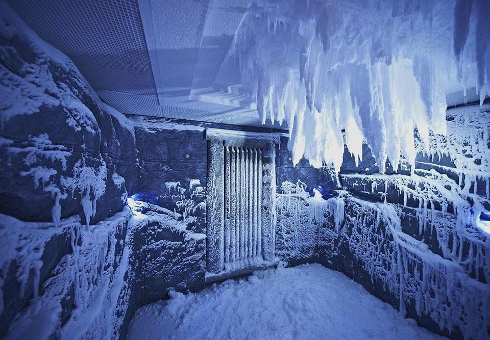 snow blue Winter weather covered freezing light night Nature ice season screenshot Waterfall