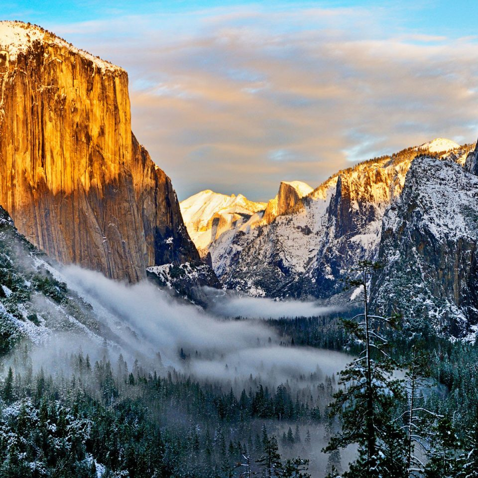 Nature mountainous landforms wilderness water mountain rock Winter landscape snow cliff water feature Waterfall mountain range ice terrain formation geology national park