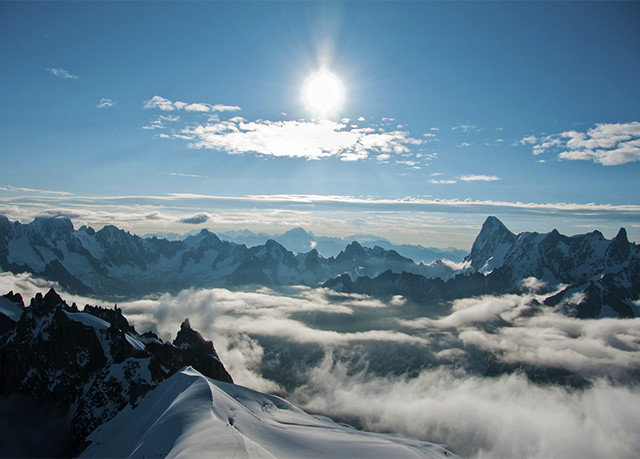 snow sky Nature mountainous landforms mountain mountain range atmospheric phenomenon cloud Winter weather alps season landscape ice plateau arctic sunlight summit ridge slope clouds