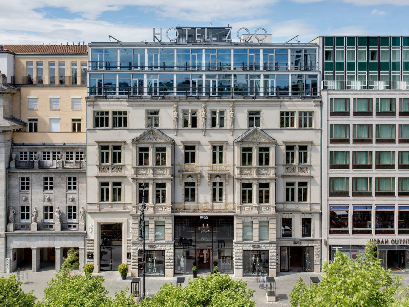 Berlin Boutique Hotels Germany Hotels Luxury Travel building outdoor large property condominium tower block City Architecture neighbourhood residential area facade Downtown estate plaza apartment headquarters tall