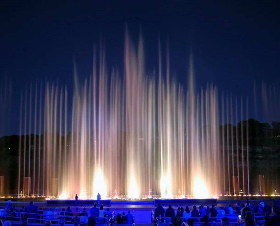 fountain night stage water feature theatre Night Sky