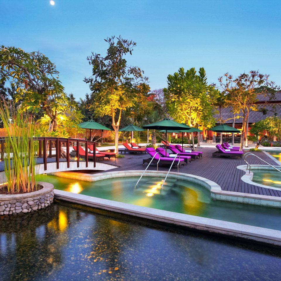 Nightlife Play Pool Resort tree sky water leisure swimming pool reflecting pool amusement park resort town park plaza Water park colorful colored