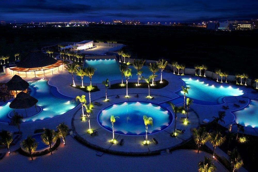 Nightlife Pool Resort Tropical light amusement park screenshot night