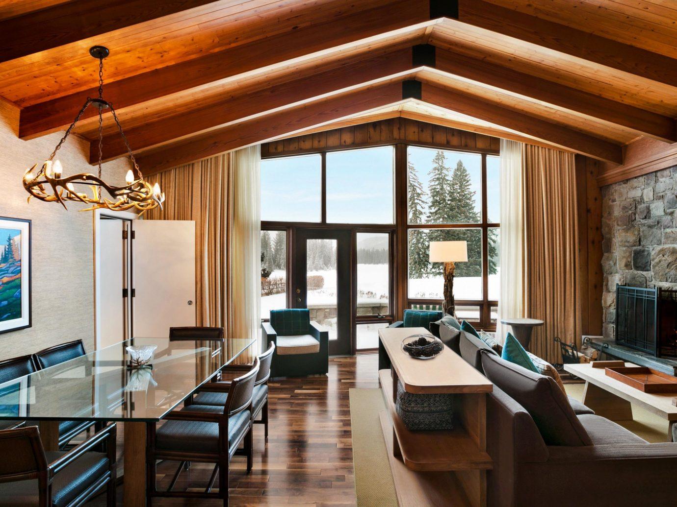 Alberta Canada Road Trips indoor Living table room floor window furniture living room interior design ceiling Fireplace wood real estate dining room Suite penthouse apartment interior designer daylighting area