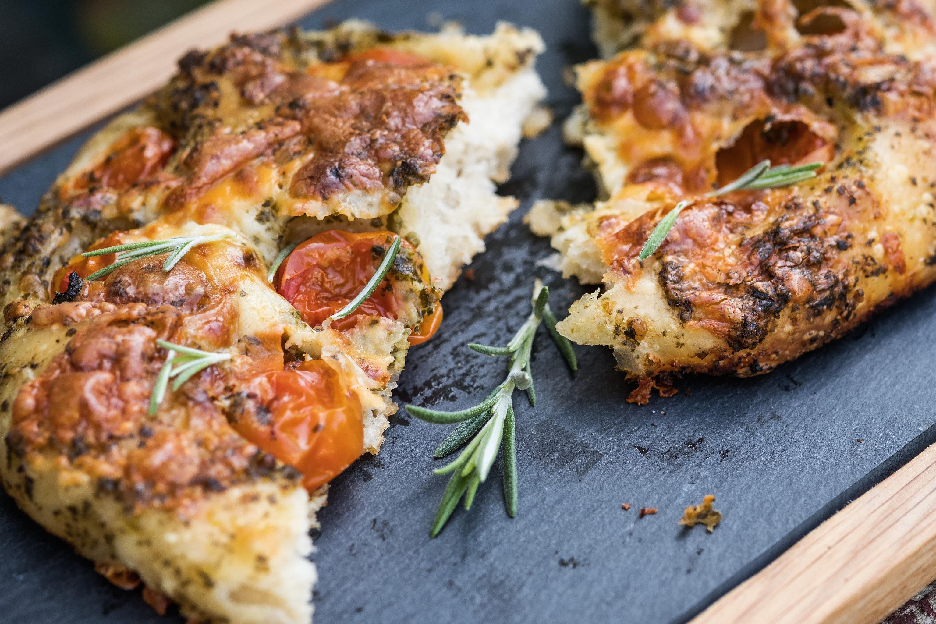 Food + Drink food dish piece slice meat produce cuisine vegetable fried food meal breakfast close pizza