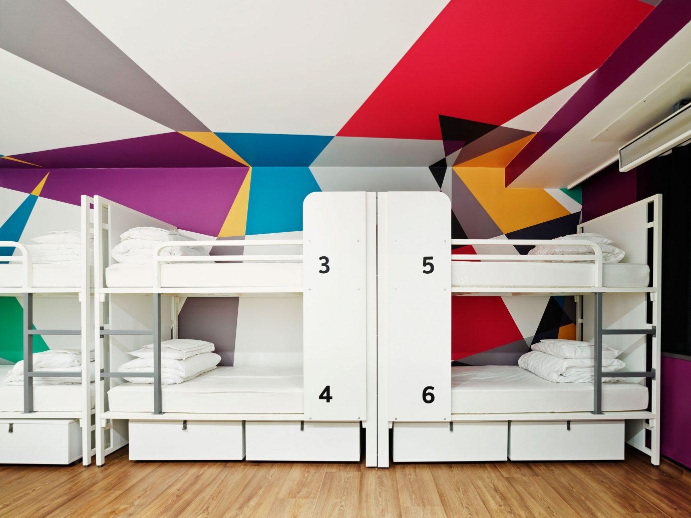 Offbeat floor indoor furniture room interior design bed bunk bed Design ceiling wardrobe